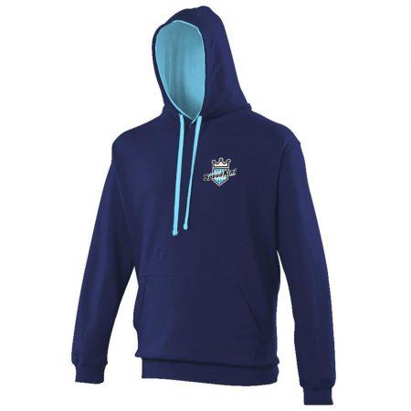 Hoodie - Blau - Vorderansicht